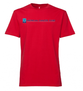 american cancer fund red t-shirt